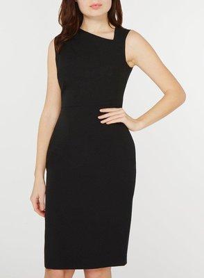 全新有吊牌 英國品牌 DOROTHY PERKINS氣質高雅 大尺碼黑色皺褶領造型無袖鉛筆裙型洋裝 UK22