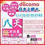 [日本好好玩]8天 日本上網 4G 吃到飽 送行李秤 DOCOMO 日本上網卡 日本 網卡 SIM卡 電話卡 WIFI