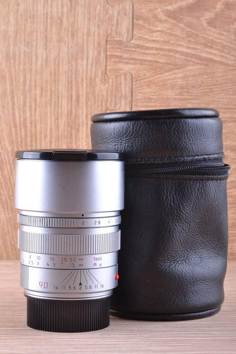 【品光攝影】 Leica 萊卡 徕卡Summicron-M PRE -A 90mm F2  銀色 加拿大產#45835