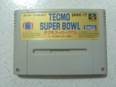 【~嘟嘟電玩屋~】SFC 超任日版卡帶 ~ 超級橄欖球 TECMO SUPER BOWL