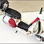 紅綠白色復古刷舊金屬偉士牌摩托車 手工鐵皮模型車 復古行李箱VESPA老偉速克達老爺車重機擺飾品工藝品擺件【歐舍傢居】