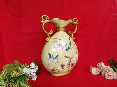 紅牡丹精品巴 洛克 聚寶盆,鳥語花香,陶瓷,宮庭古典,情人節  生日禮物,適書房玄関客廳