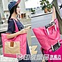 家用短途旅行包可折疊購物袋帆布手提單肩包...