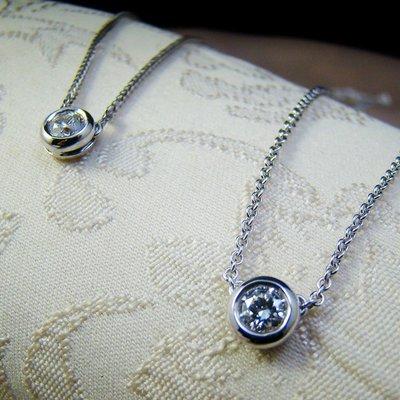 【寶儀珠寶 回饋特賣 】﹝八心八箭單顆30分美鑽鑽石 鎖骨造型鍊K金﹞GIA證書 - 優惠價