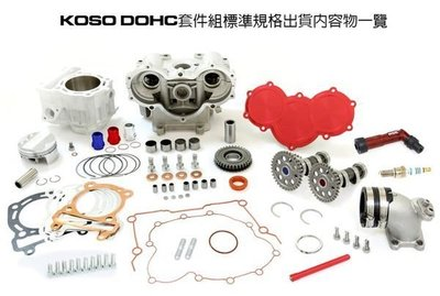 【杰仔小舖】KOSO世界首創雙凸DOHC套件組,勁戰125/新勁戰/舊勁戰/RS/CUXI可改裝,限時搶購中!