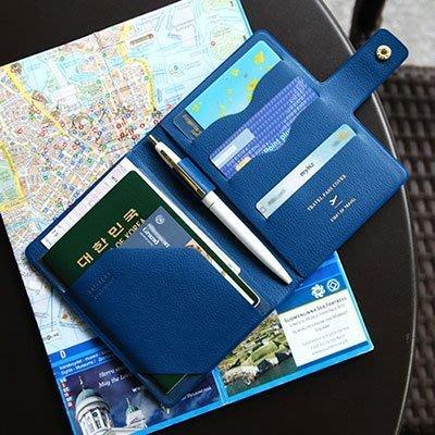 好心情日韓正品雜貨『韓國 plepic』旅遊好幫手~ Travel Pass Cover 短版圓扣護照夾