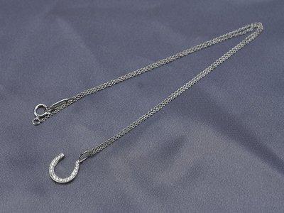 [超優惠商品24期0利率] TIFFANY&Co.PT950 鉑金 幸運 馬蹄 造型鑲鑽 項鍊