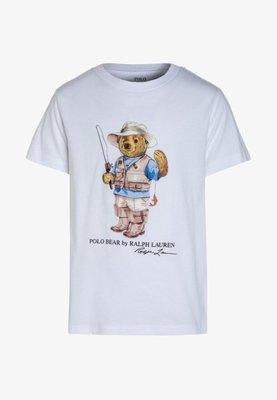 【Polo Ralph Lauren】RL 大男童男生 小熊 泰迪熊 熊熊 短袖T恤 T恤 Logo短t 純棉T恤 白色