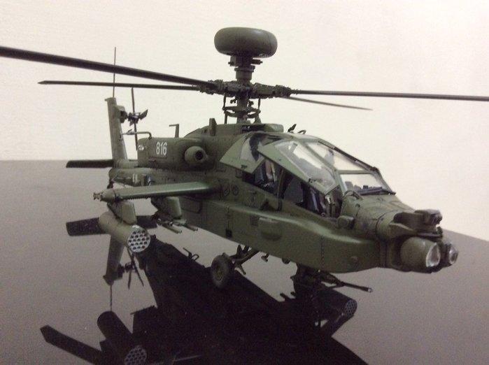 阿帕契 臺灣陸軍最強攻擊直升機AH64E阿帕契 比例1/48全新完工