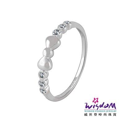 威世登時尚珠寶  甜美蝴蝶結白K金戒指(鑲風信子) KA00093-EAEX