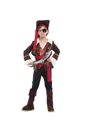 歡樂賣 /萬聖節服裝,萬聖節裝扮,海盜裝扮/兒童變裝服-獨眼海盜王子