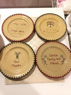 霈美食&精品~美國ParkDesigns鄉村風sentiments聖誕系列手繪餐盤點心盤4個一組特價出清~