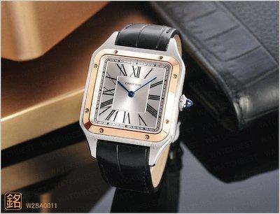 ☆大銘店面現貨 ☆W2SA0011 CARTIER SANTOS-DUMONT腕錶 大型款 玫瑰金錶圈 卡地亞 3910