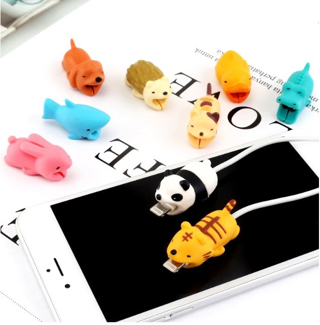 生活實用小物 充電線保護套 動物  傳輸線 保護線套 咬線 高CP 高品質  充電線套 iPhone 線套【HY49】