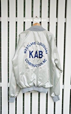 美國製 Vintage Nylon Baseball Jacket 刺繡棒球外套夾克(ma1/ 橫須賀/ bomber) 台北市