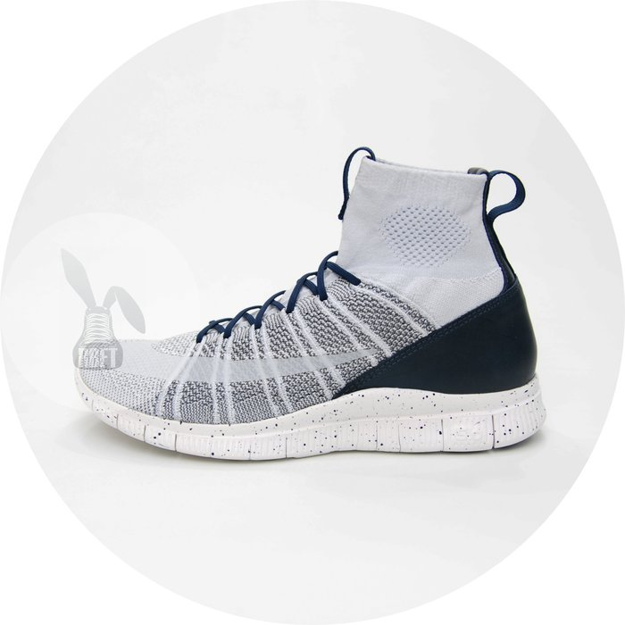 [RabbitFoot] Nike Free Flyknit Mercurial 男鞋 灰深藍 805554-001