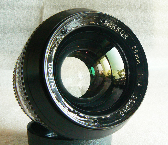【悠悠山河】放射泡泡散景 Nikon Nikkor 35m F1.4 K版 最佳鍍膜 全鏡玻璃完美 透亮無刮無霉無霧無塵