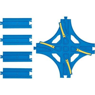 【3C小苑】TP11290 麗嬰 日本 TAKARA PLARAIL 鐵道王國 R-14 交叉換軌轉轍器 火車 鐵路