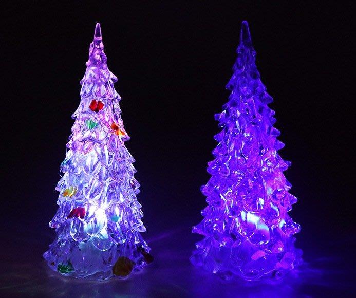 【阿LIN】194122 聖誕樹 特大加大 27cm 夜燈 造型燈 七彩 發光 聖誕節 飾品 裝飾 佈景 夜景 一標一入
