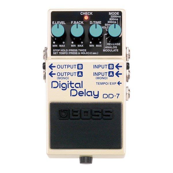 【六絃樂器】全新 Boss DD-7 Ditital Delay 數位延遲效果器 / 現貨特價