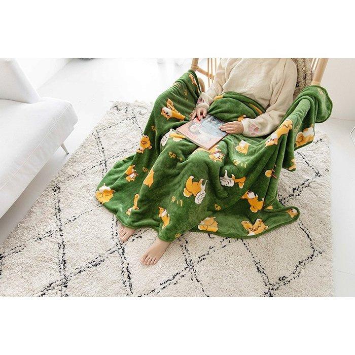 F.R.O.G.S MB0023柔軟舒適法蘭絨柴犬柴柴各式動作印花造型毛毯蓋毯空調毯小毯子被子涼被單人被(現+預)
