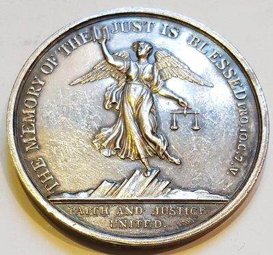 英國銀章 1805 UK Reverend James Wilkinson Silver Medal