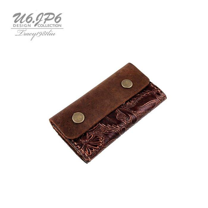 【U6.JP6 手工皮件】-純手工縫製.零錢包 / 萬用包(男女適用)