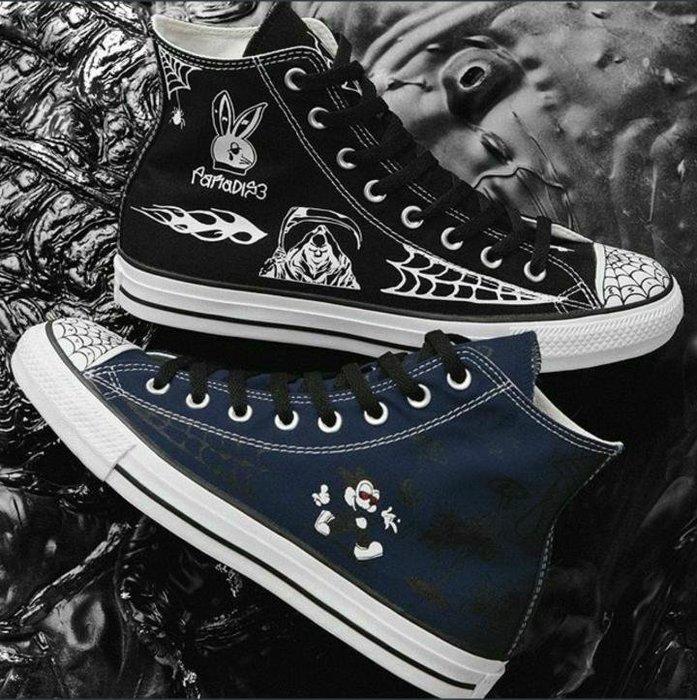 Converse x Sean Pablo Chuck Taylor All Star Pro CTAS 滑板 塗鴉 漫畫 高筒 男鞋 藍色 黑色 各尺寸
