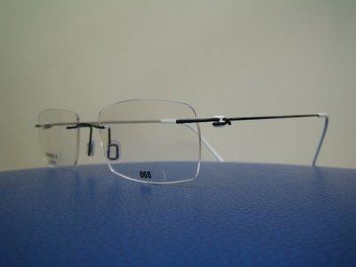 吉新益眼鏡公司-MiNiMA法國手工框-世界最輕-完全無螺絲設計-B-鈦.材質亮黑 868