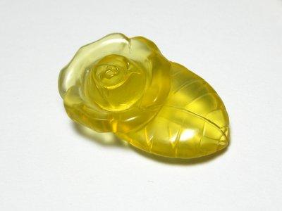 【Texture & Nobleness 低調與奢華】天然無處理 澳洲 金黃蛋白石雕刻 - 帶葉玫瑰 10.1克拉