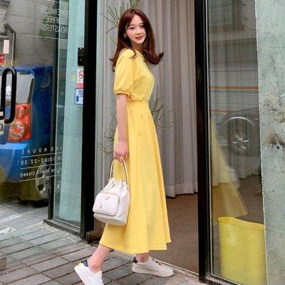 bibi 韓國代購 正韓  短袖縮腰連身裙【 BH7133  】