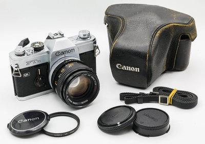 二手新中古:經典CANON FTb-N QL+ FD 50mm ssc F1.4大光圈 文青相機135底片機8.8成新