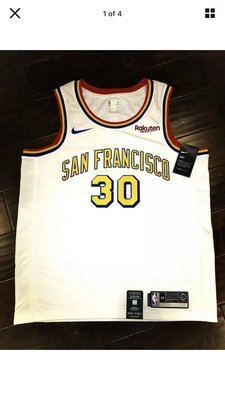 美國獨賣 Nike Golden State Warriors Stephen Curry Hardwood Classic Sz: L