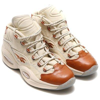 =CodE= REEBOK QUESTION MID X SNS 鴕鳥皮革籃球鞋(白橘)BD2532 名人堂 男女 預購