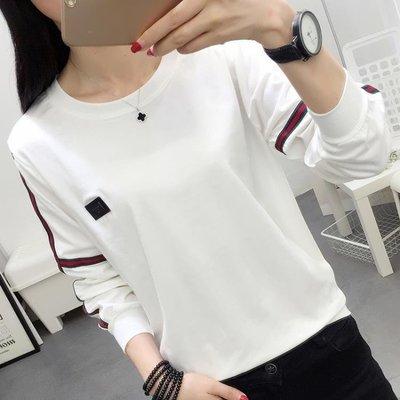 ZIHOPE 衛衣新款女長袖韓版寬鬆秋裝INS超火的上衣服白色打底T恤衫潮ZI812