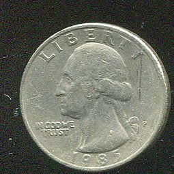 United States(美國25分硬幣),25-CENT,1985P ,品相美VF