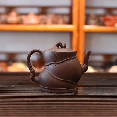(全場免運)紫砂壺茶壺禮品定製紫泥佛肚壺 【不二先生】