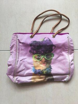 Anya Hindmarch 可愛貓咪圖案 復古經典包手提包