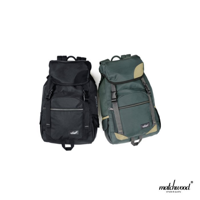 { POISON } MATCHWOOD APOLLO 美式戶外風格 17吋筆電夾層 光澤感面料大容量後背包