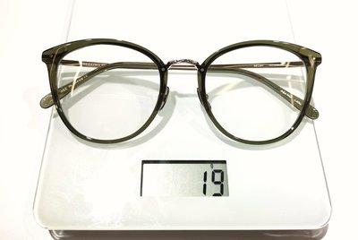 # YELLOWS_PLUS #AGATHA #日本製造 #純鈦金屬#純鈦鼻墊 52口21墨綠色框面淡金色鏡腳