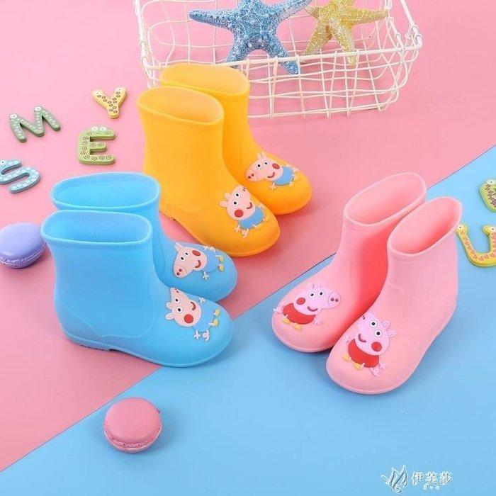 兒童雨鞋男孩女孩兒童雨鞋小孩夏天小童鞋套糖果色寶寶百搭水靴男童夏季輕