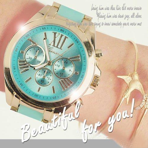 [2支贈盒]男女對錶 鍊帶錶 炫光金屬三眼造型 手鍊 首爾漫遊羅馬刻度中性錶 ☆匠子工坊☆【UQ0009】