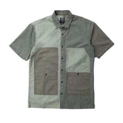 全新 現貨M Publish brand Lix 短袖 襯衫 洗舊 軍裝 工裝 街頭 復古 騎士 滑板 衝浪