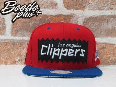 BEETLE PLUS MITCHELL& NESS X BAIT NBA 洛杉磯快艇 CLIPPERS PUAL 紅藍 貼布 SNAPBACK 後扣棒球帽
