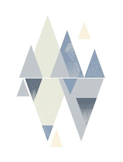 三幅一組油畫布 形意色塊幾何圖形 畫芯/畫布/30X40☺暖暖屋☺傢居藝術館