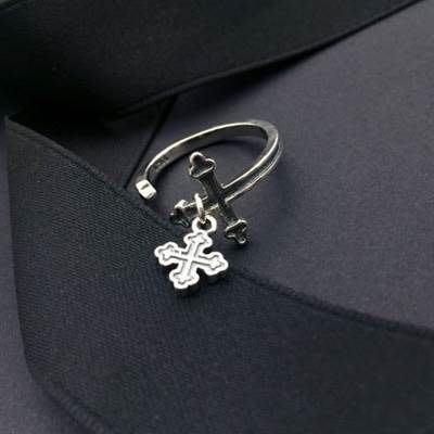 925純銀戒指 開口戒-經典個性十字架造型生日情人節禮物女飾品73ic10[獨家進口][米蘭精品]