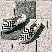 D-BOX  VANS Slip-On Mule 懶人鞋 半拖鞋 黑白格子 一腳蹬 VN0004KTEO1