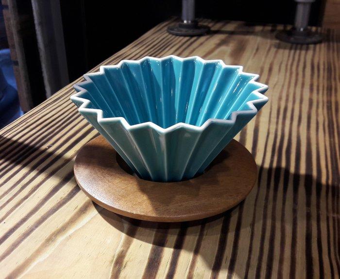 【多塔咖啡】日本進口 ORIGAMI 摺紙咖啡陶瓷濾杯組 S 第二代 (土耳其藍) 2019咖啡冠軍專用杯 摺紙濾杯