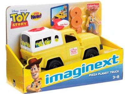 美國絕版 Fisher-Price 玩具總動員 披薩車 批薩車 合金車 披薩星球  (胡迪 巴斯光年 熊抱哥 三眼怪 )