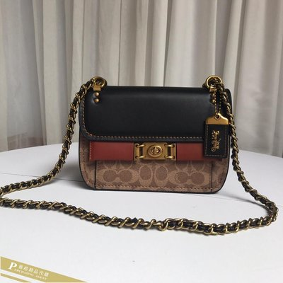雅格時尚精品代購COACH 寇馳 78490 新款女士Troupe鏈條包 經典復古款翻蓋斜背包 經典潮流 美國代購